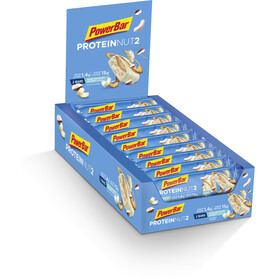 PowerBar Protein Nut 2 Bar Caja 18x2x22,5g, Milk White Chocolate Coconut